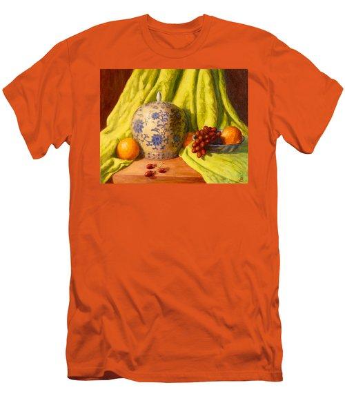 Men's T-Shirt (Slim Fit) featuring the painting La Jardiniere by Joe Bergholm
