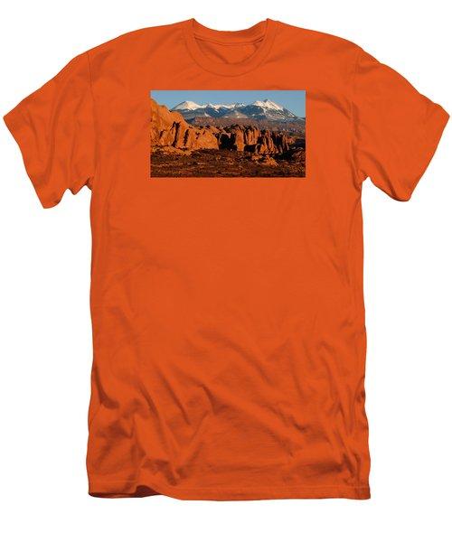 La Sal Mountains Men's T-Shirt (Athletic Fit)