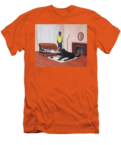 Lady Pulling Mommy Off The Couch Men's T-Shirt (Athletic Fit)