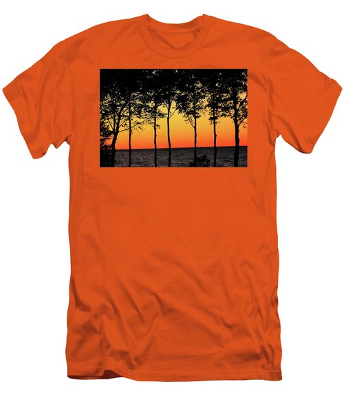 Men's T-Shirt (Athletic Fit) featuring the photograph Lake Erie Silhouettes by Bruce Patrick Smith