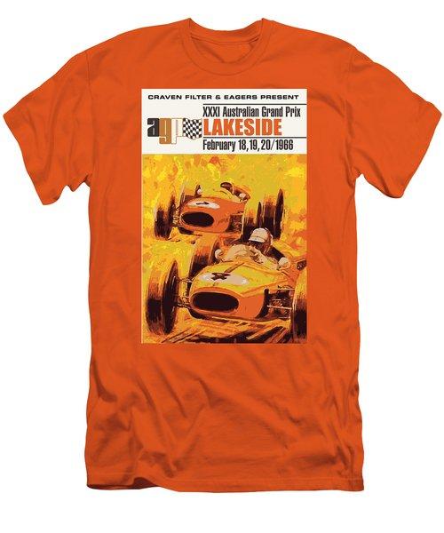 Lakeside Racing Men's T-Shirt (Slim Fit) by Gary Grayson