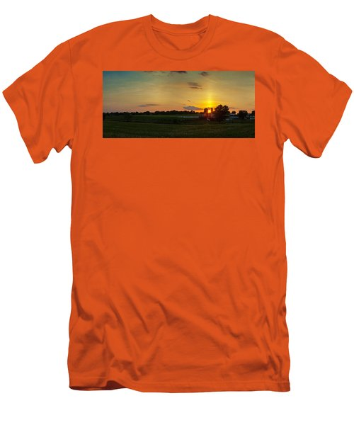 Lancaster Farm Sunset Panorama Men's T-Shirt (Athletic Fit)