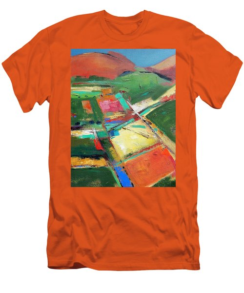 Land Patches Men's T-Shirt (Slim Fit) by Gary Coleman