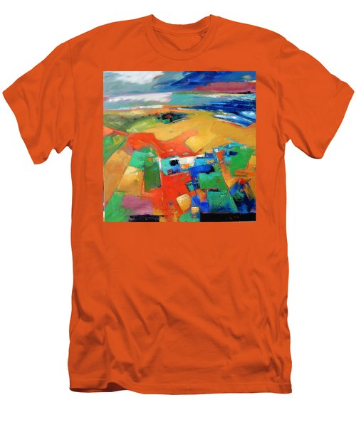 Men's T-Shirt (Slim Fit) featuring the painting Landforms, Suggestion Of A Memory by Gary Coleman