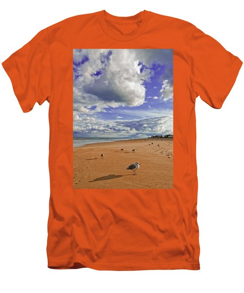 Men's T-Shirt (Slim Fit) featuring the photograph Last Day At The Beach by Jim Moore