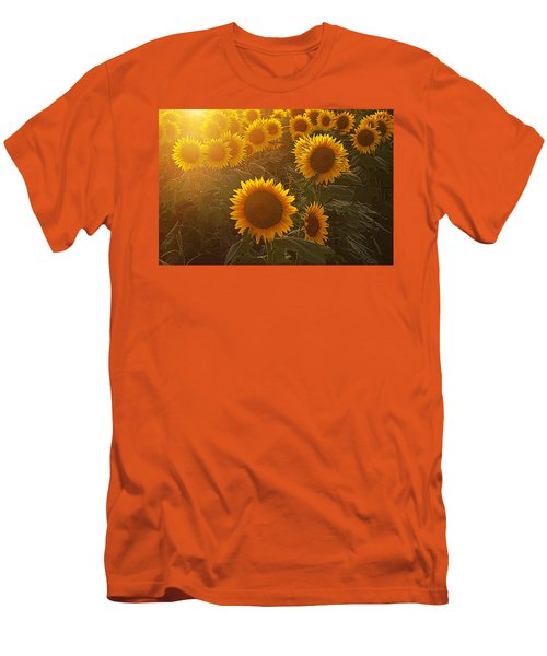 Late Afternoon Golden Glow Men's T-Shirt (Slim Fit) by Karen McKenzie McAdoo