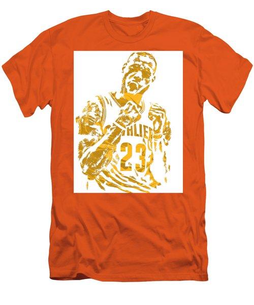 Lebron James Cleveland Cavaliers Pixel Art 9 Men's T-Shirt (Athletic Fit)