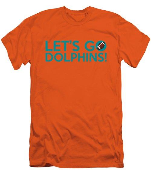 Let's Go Dolphins Men's T-Shirt (Slim Fit) by Florian Rodarte