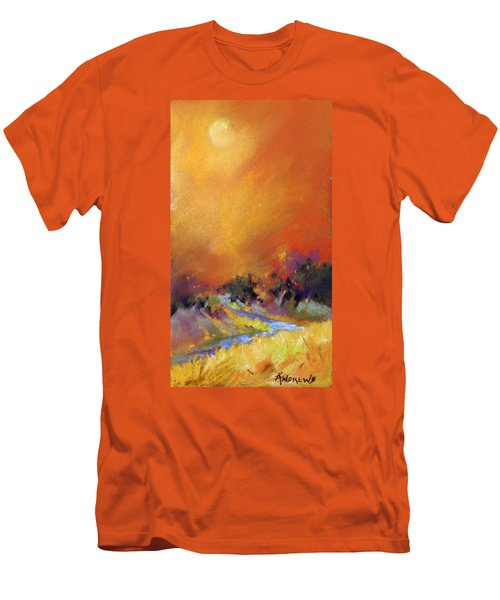 Men's T-Shirt (Slim Fit) featuring the painting Light Dance by Rae Andrews