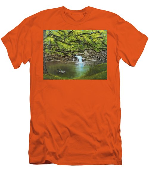 Like Ducks On Water Men's T-Shirt (Athletic Fit)