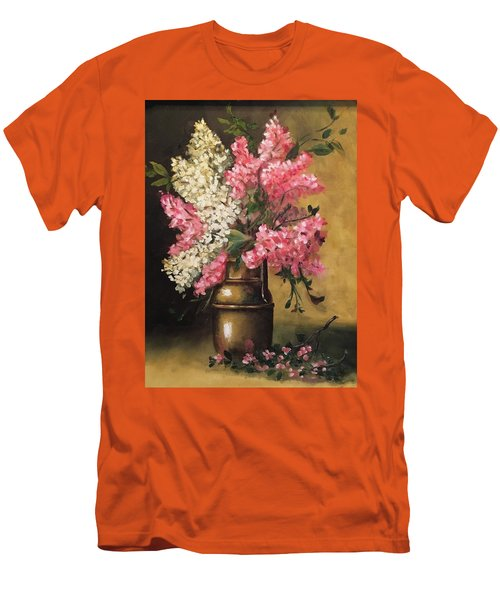Lilacs Men's T-Shirt (Slim Fit) by Sharon Schultz