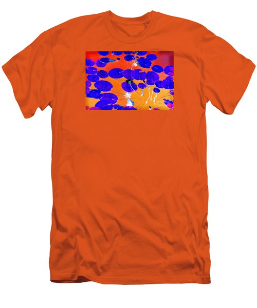 Lilypad Explosion Men's T-Shirt (Slim Fit) by Linda Olsen