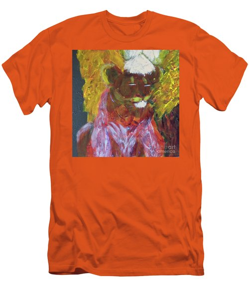 Men's T-Shirt (Athletic Fit) featuring the painting Lion Family Part 4 by Donald J Ryker III