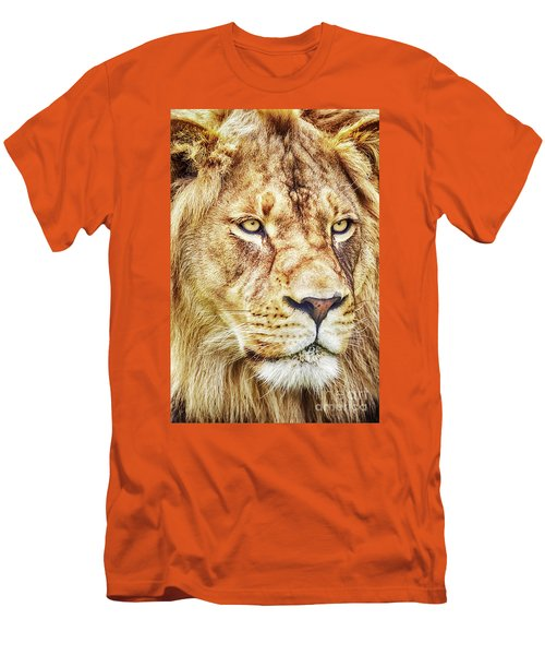 Lion-the King Of The Jungle Large Canvas Art, Canvas Print, Large Art, Large Wall Decor, Home Decor Men's T-Shirt (Athletic Fit)