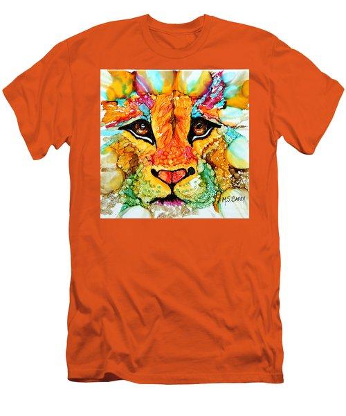 Lion's Head Gold Men's T-Shirt (Athletic Fit)