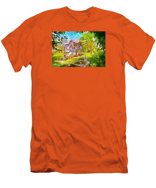 Caribbean Scenes - Little Country House Men's T-Shirt (Slim Fit) by Wayne Pascall