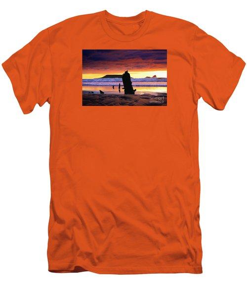 Llangennith Helvetia Wreck Men's T-Shirt (Athletic Fit)