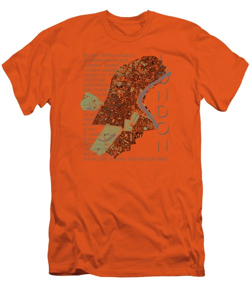 London Classic Map Men's T-Shirt (Slim Fit) by Jasone Ayerbe- Javier R Recco