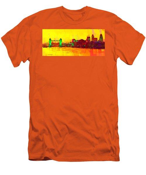 London Thames And Bridge - Pa Men's T-Shirt (Athletic Fit)