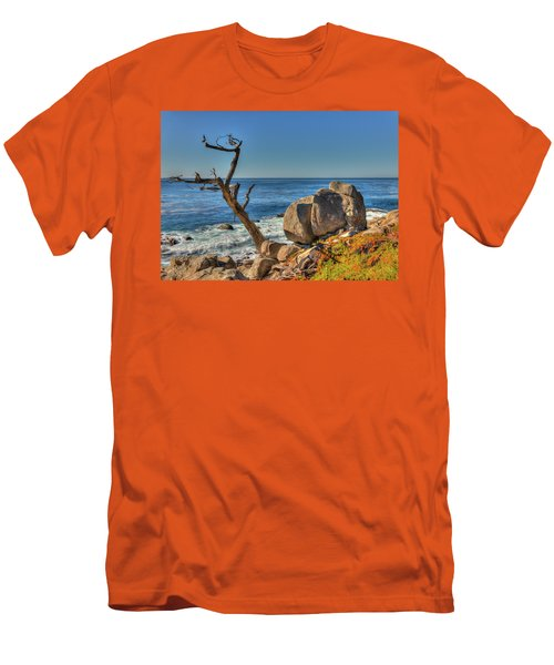 Lone Tree California Coast Men's T-Shirt (Slim Fit) by James Hammond
