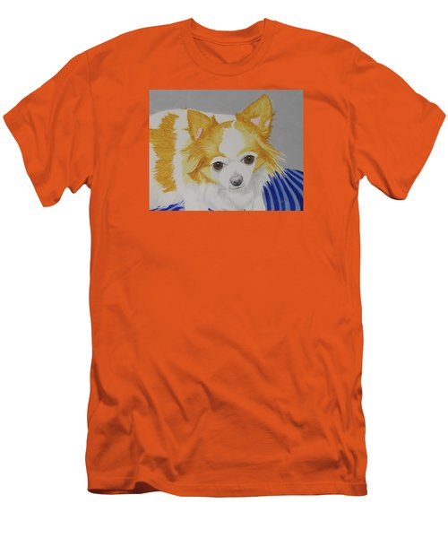 Long-haired Chihuahua Men's T-Shirt (Slim Fit) by Hilda and Jose Garrancho