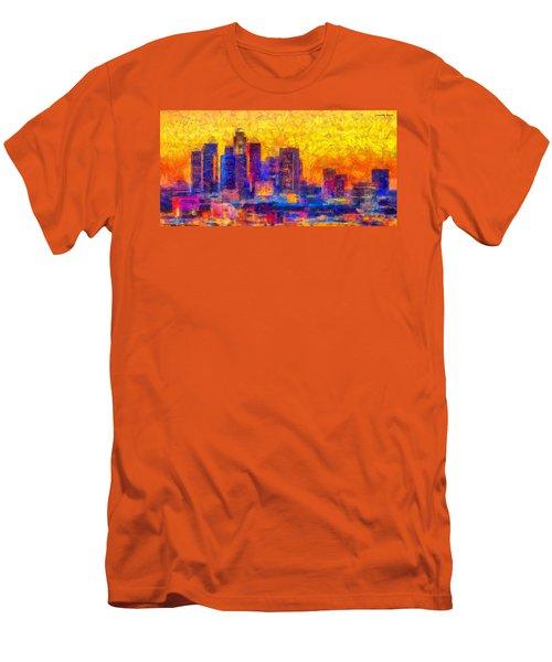 Los Angeles Skyline 122 - Da Men's T-Shirt (Athletic Fit)