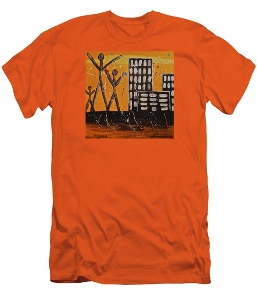 Lost Cities 13-002 Men's T-Shirt (Slim Fit) by Mario Perron