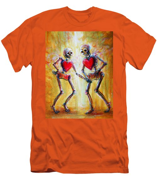 Men's T-Shirt (Slim Fit) featuring the painting Love 2 Love by Heather Calderon