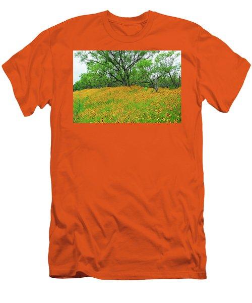 Lush Coreopsis Men's T-Shirt (Slim Fit) by Lynn Bauer