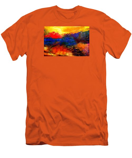 Men's T-Shirt (Slim Fit) featuring the digital art Lyrical Landscape by Diana Riukas