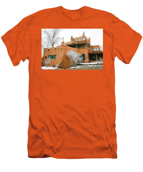 Men's T-Shirt (Slim Fit) featuring the photograph Mabel Luhan Dodge House 1 by Marilyn Hunt