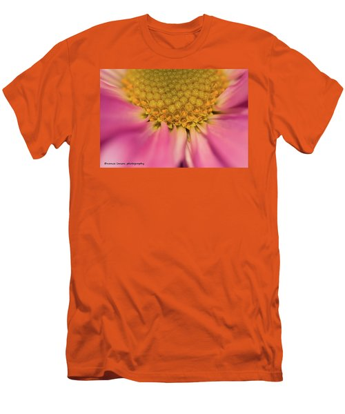 Macro Daisy Men's T-Shirt (Slim Fit) by Nance Larson