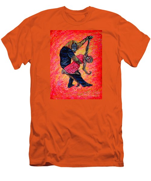 Men's T-Shirt (Slim Fit) featuring the painting Madame... by Viktor Lazarev