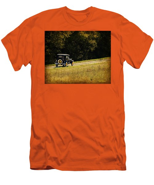 Madison County Back Roads-ford Men's T-Shirt (Slim Fit) by Kathy M Krause