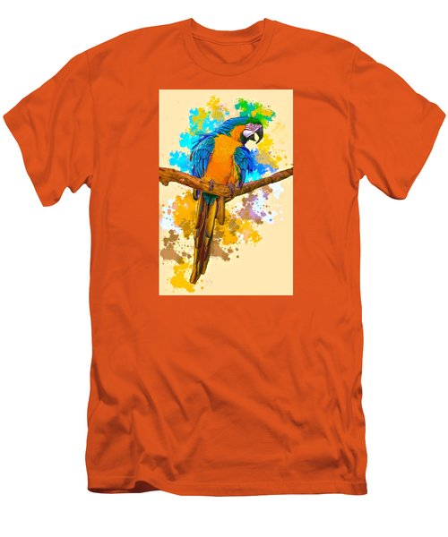 Men's T-Shirt (Slim Fit) featuring the photograph Making A Splash by Brian Tarr