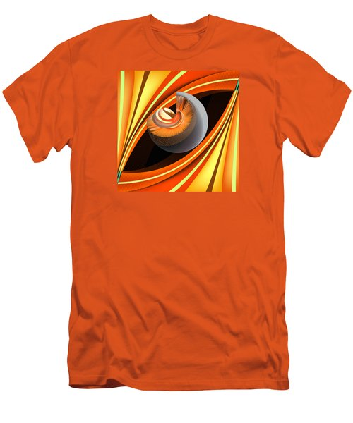 Men's T-Shirt (Slim Fit) featuring the digital art Making Orange Planets by Angelina Vick