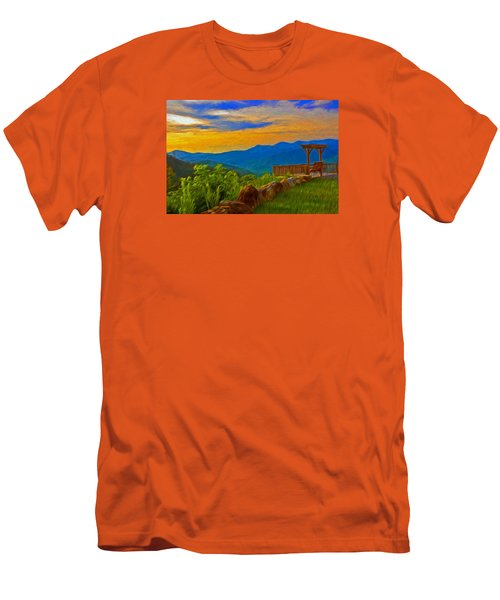 Blue Ridge Sunset From Mama Gertie's Hideaway Men's T-Shirt (Athletic Fit)