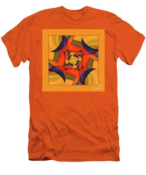 Men's T-Shirt (Slim Fit) featuring the digital art Mandala #56 by Loko Suederdiek