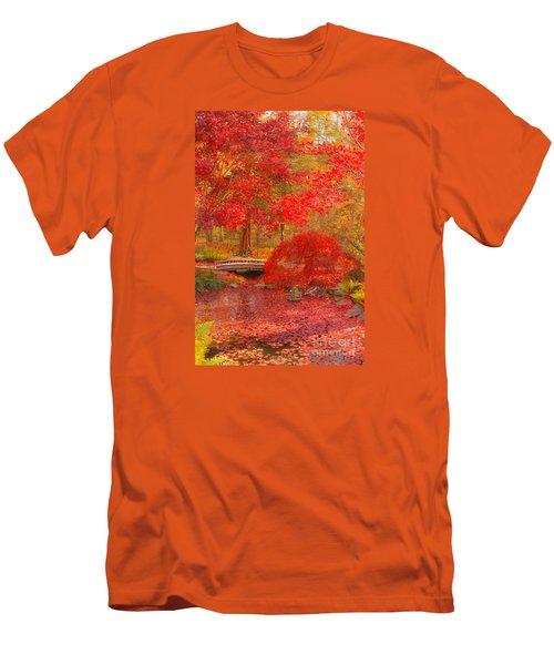 Men's T-Shirt (Slim Fit) featuring the photograph Maple Bridge by Geraldine DeBoer