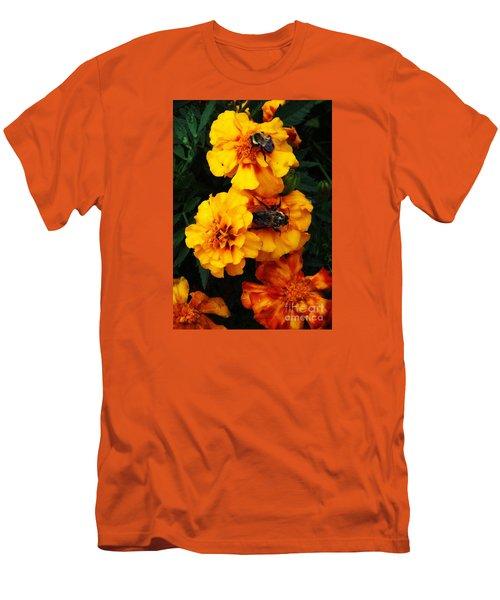 Marigold Cluster Men's T-Shirt (Slim Fit) by J L Zarek