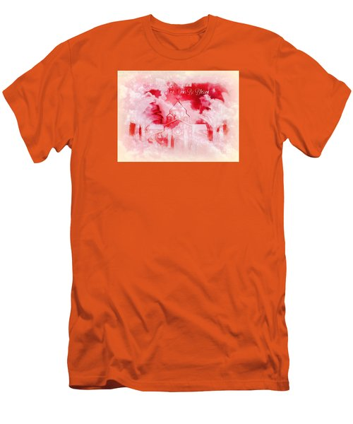 Men's T-Shirt (Slim Fit) featuring the digital art Merry Christmas And A Blessed New by Sherri Of Palm Springs