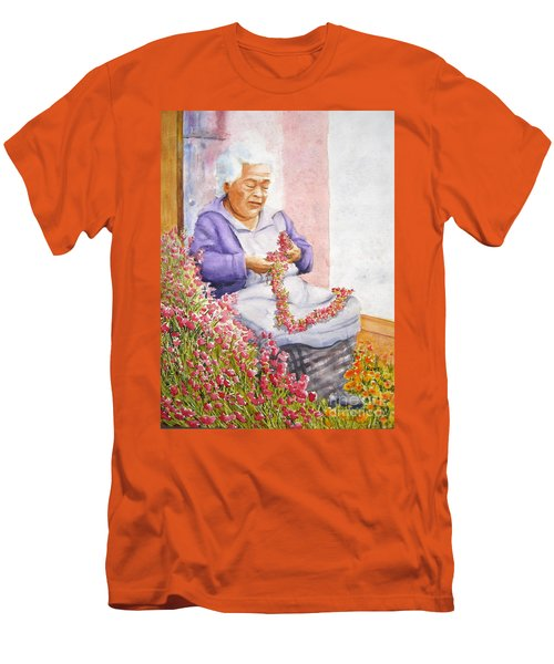 Mexican Flower Men's T-Shirt (Athletic Fit)