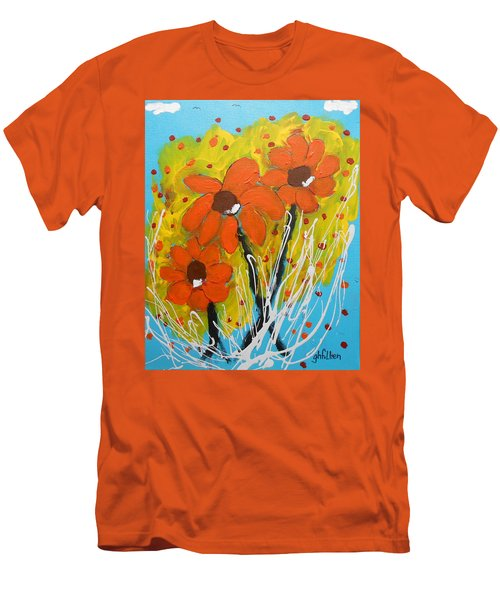 Mexican Sunflowers Flower Garden Men's T-Shirt (Athletic Fit)