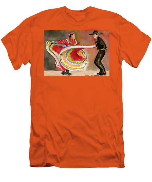 Mexico City Ballet Folklorico Men's T-Shirt (Slim Fit) by Frank Hunter