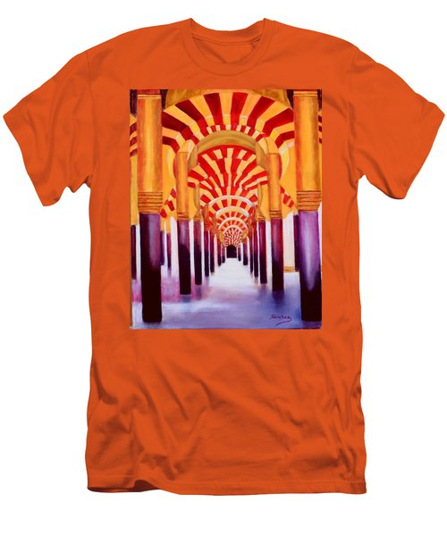 Mezquita De Cordoba Men's T-Shirt (Slim Fit) by Manuel Sanchez
