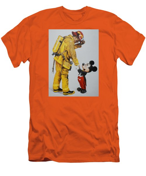 Mickey And The Bravest Men's T-Shirt (Slim Fit) by Rob Hans