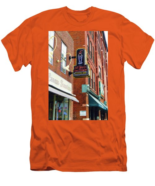 Mike's Ice Cream And Coffee Bar Men's T-Shirt (Slim Fit) by Sandy MacGowan