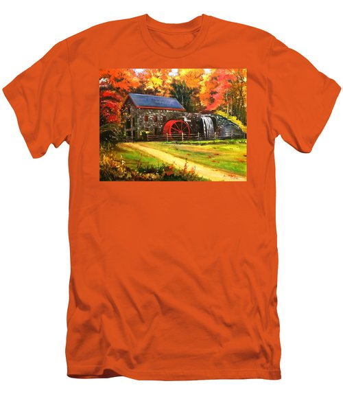 Mill House Men's T-Shirt (Slim Fit) by Rose Wang