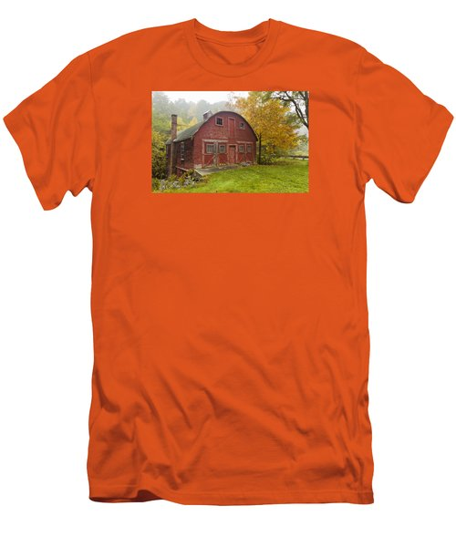 Men's T-Shirt (Slim Fit) featuring the photograph Mill In Autumn by Tom Singleton