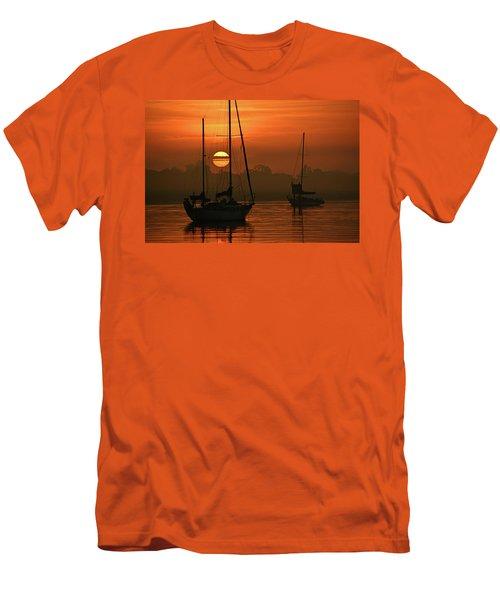 Misty Morning Sunrise Men's T-Shirt (Athletic Fit)